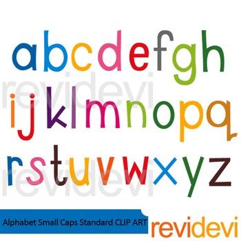 Alphabet small caps standard clip art