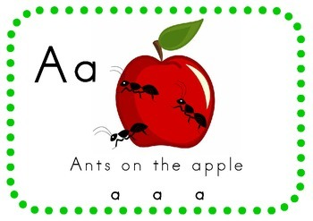 Alphabet song posters