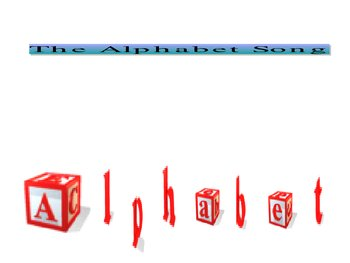 Alphabet song powerpoint