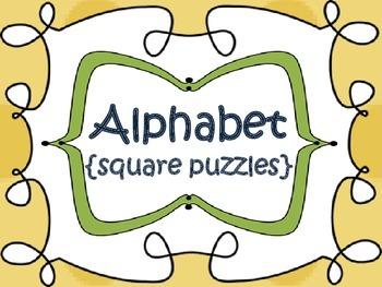 Alphabet {square puzzles}