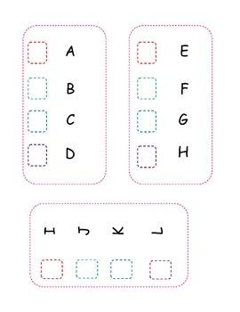 Alphabet sticker Chart