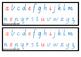 Alphabet strips - coloured vowels - Vic cursive
