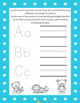 Alphabet tracing and beginning sound identification