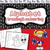 Alphabet tracing and coloring
