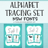 Alphabet tracing letters- Individual posters- NSW fonts