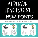Alphabet tracing letters- NSW fonts