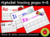 Alphabet tracing pages A-Z in color & black and white!
