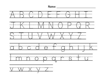 Alphabet tracing uppercase & lowercase