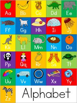 Alphabet - beginning sound - wall chart