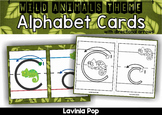 Alphabet Handwriting Cards with directional arrows - Wild Animals