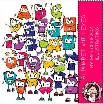 Alphabet with Eyes clip art - COMBO PACK - by Melonheadz Illustrating