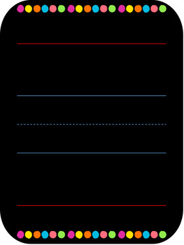 Single Blank Alphabet Display Poster with Lines