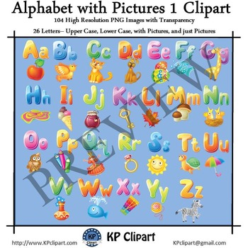 Alphabet with Pictures 1 Clipart