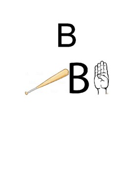 Alphabet with Pictures and ASL