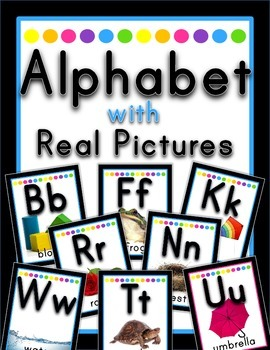 Alphabet with Real Pictures {Black Neon}