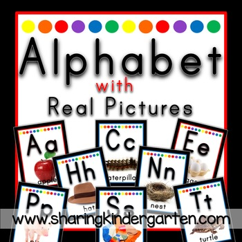 Alphabet with Real Pictures {Black Primary}