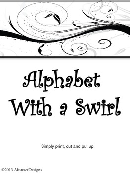 Alphabet with a Swirl