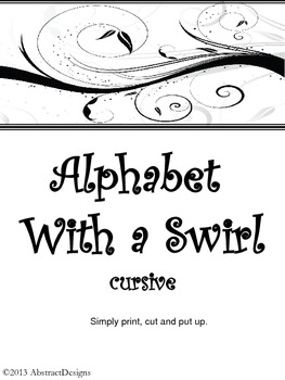 Alphabet with a Swirl (cursive)