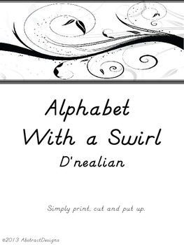 Alphabet with a Swirl (dnealian)
