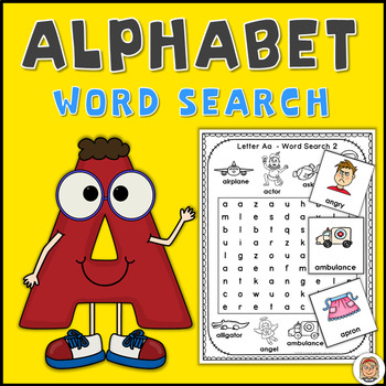 Alphabet Word Search Puzzles Letter A