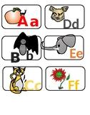 Alphabet word wall/classroom graphics. Hand writing practice