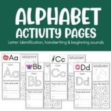 Alphabet practice beginning sound practice no prep workshe