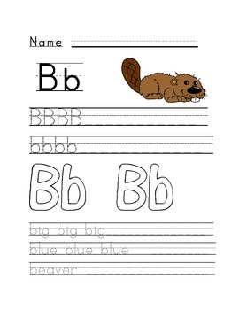 Alphabet worksheets A-Z with vocabulary and sight words
