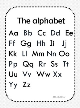Alphabet worksheets/El abecedario
