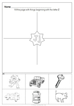 Alphabet worksheets Initial / beginning letter sounds A-Z