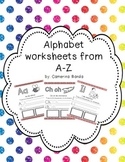 Alphabet worksheets in spanish from A-Z/ paginas del alfabeto de la A-Z