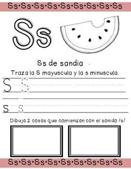 Alphabet worksheets in spanish from A-Z/ paginas del alfabeto de la A-Z