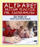 Alphabet writing Practice for Kindergarten