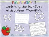 Alphabet writing pages