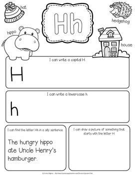 alphabet letter journal a z no prep worksheets pre k kindergarten. Black Bedroom Furniture Sets. Home Design Ideas