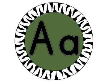 Alphabetic Jungle themed cirlces