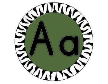 Alphabetic Jungle themed cirlces