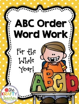 Alphabetic Order, ABC Word Work, Center, Station, First, Second, Third