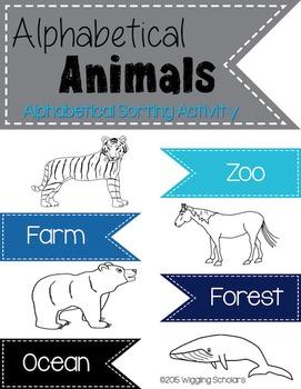 Alphabetical Animal Activity