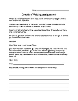 Alphabetical Creative Writing