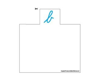 Montessori Alphabetical Divider Index System, cursive.