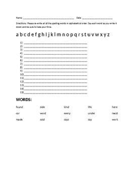 Alphabetical List - Set 4