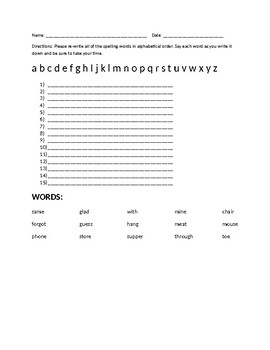 Alphabetical List - Set 6