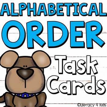 ABC Order: Alphabetical Order Task Cards