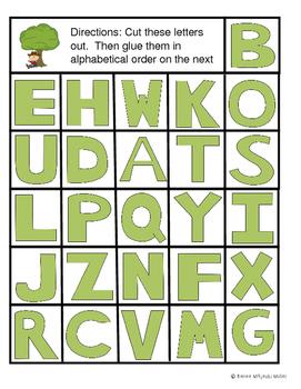 Alphabet Activities: Aphabetical Order