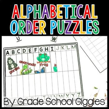 Alphabetical Order Activities