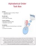 Alphabetical Order Task Box