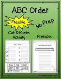 Alphabetical Order - ABC Order Cut & Glue Printable