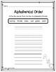 Alphabetical Order - ABC Order Cut & Glue Printable
