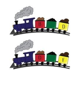 Alphabetical Order ABC Trains