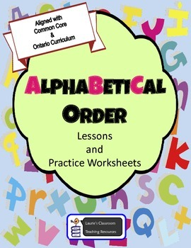 Alphabetical Order - Lessons, Activities, Review, Test, Answer Sheets